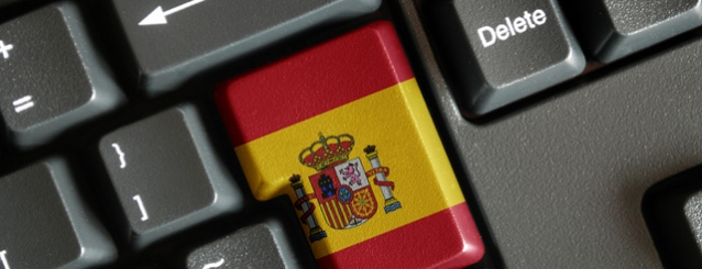 Spanish flag on keyboard